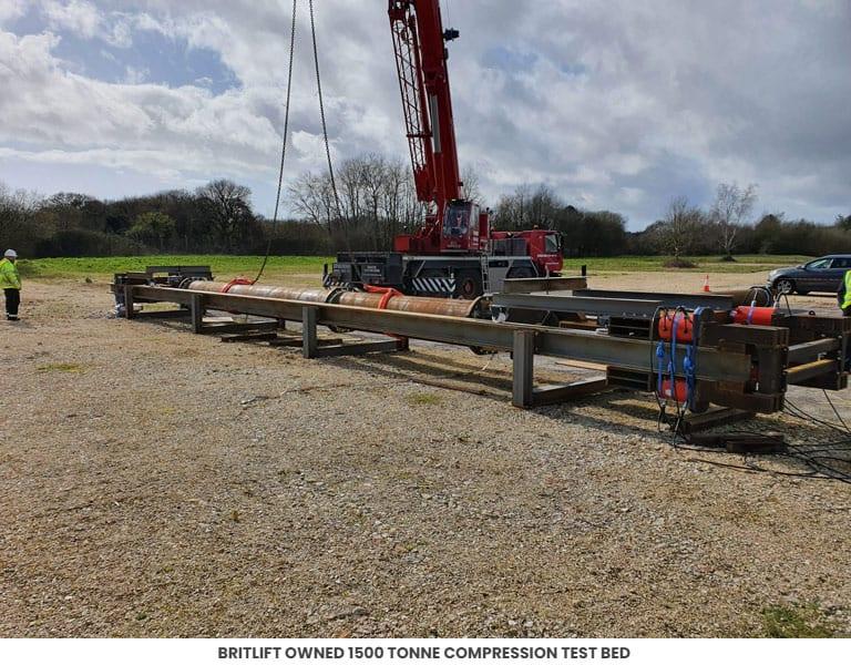 Britlift owned 1500 tonne compression test bed