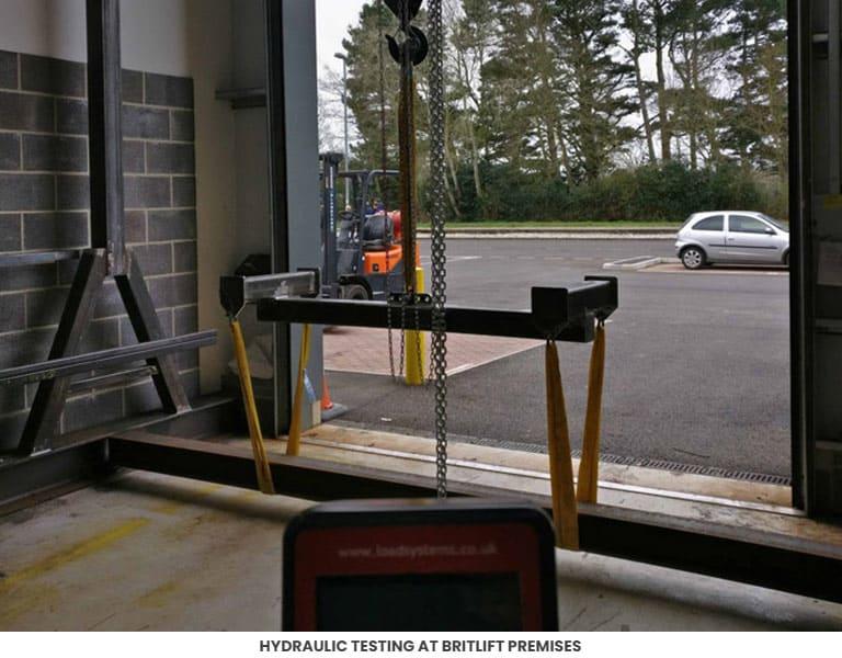 Hydraulic Testing at Britlift